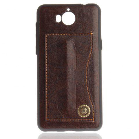 Case Cover for Y7 / Y7 Prime Luxury PU Leather with Stand and Card Slots - BROWN
