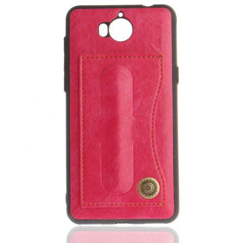 Case Cover for Y7 / Y7 Prime Luxury PU Leather with Stand and Card Slots - ROSE RED