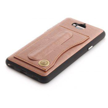 Case Cover for Y7 / Y7 Prime Luxury PU Leather with Stand and Card Slots - ROSE GOLD