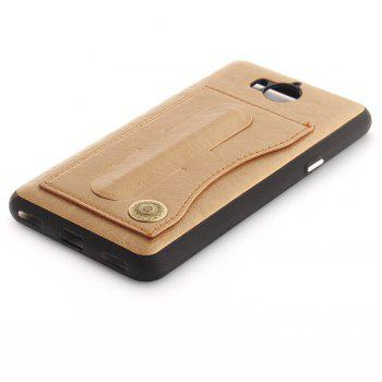 Case Cover for Y7 / Y7 Prime Luxury PU Leather with Stand and Card Slots - GOLDEN