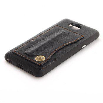 Case Cover for Y7 / Y7 Prime Luxury PU Leather with Stand and Card Slots - BLACK