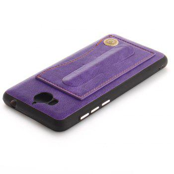 Case Cover for Y7 / Y7 Prime Luxury PU Leather with Stand and Card Slots - PURPLE