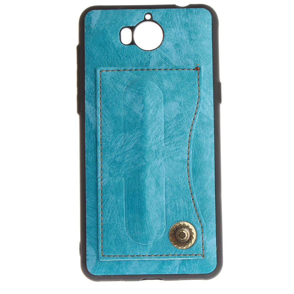 Case Cover for Y7 / Y7 Prime Luxury PU Leather with Stand and Card Slots - WINDSOR BLUE