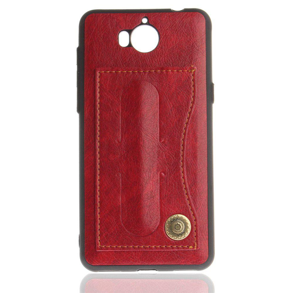 Case Cover for Y7 / Y7 Prime Luxury PU Leather with Stand and Card Slots - RED