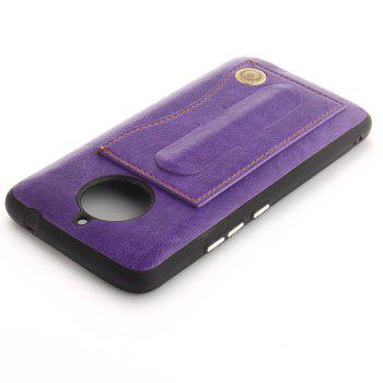 Case Cover for MOTO E4 Plus The Eu Version Luxury PU Leather with Stand and Card Slots - PURPLE