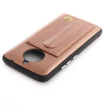 Case Cover for MOTO E4 Plus The Eu Version Luxury PU Leather with Stand and Card Slots - GOLDEN