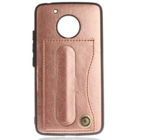 Case Cover for MOTO G5 Luxury PU Leather with Stand and Card Slots - ROSE GOLD