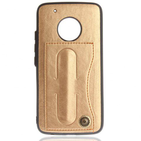 Case Cover for MOTO G5 Plus Luxury PU Leather with Stand and Card Slots - GOLDEN