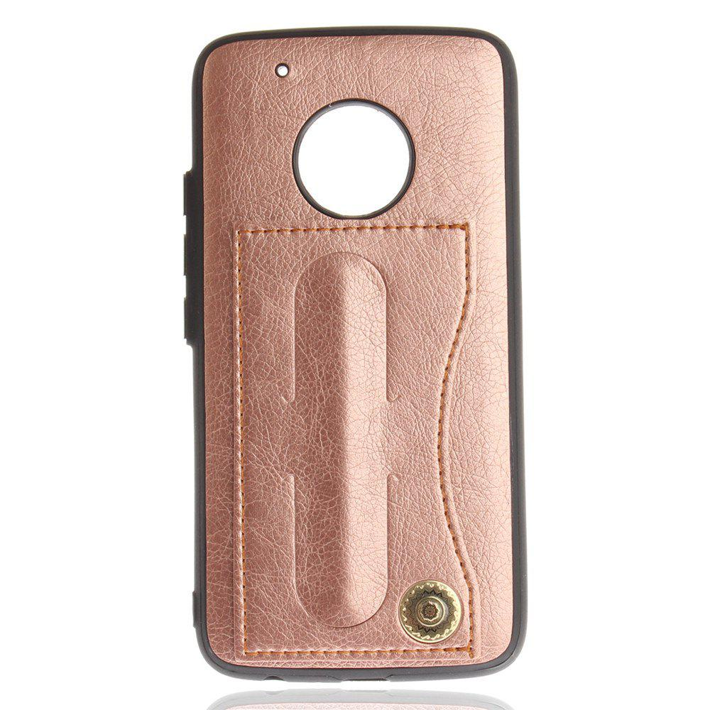 Case Cover for MOTO G5 Plus Luxury PU Leather with Stand and Card Slots - ROSE GOLD
