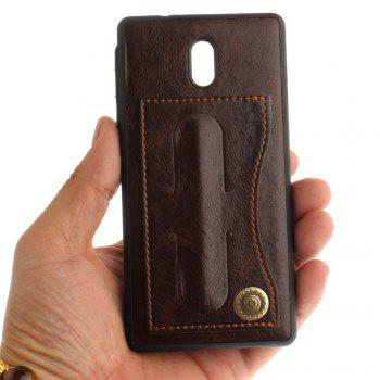 Case Cover for Nokia 3 Luxury PU Leather with Stand and Card Slots - BROWN