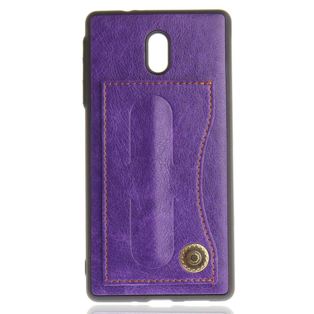 Case Cover for Nokia 3 Luxury PU Leather with Stand and Card Slots - PURPLE