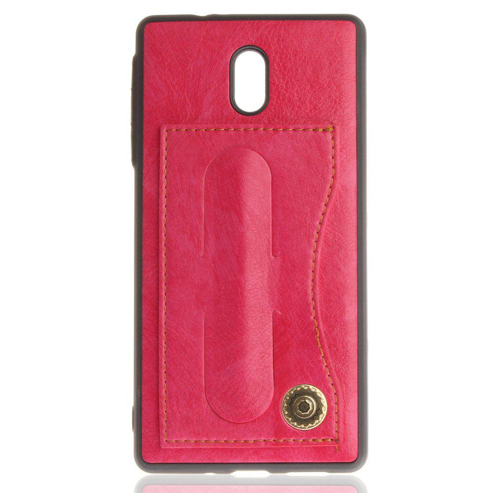 Case Cover for Nokia 3 Luxury PU Leather with Stand and Card Slots - ROSE RED