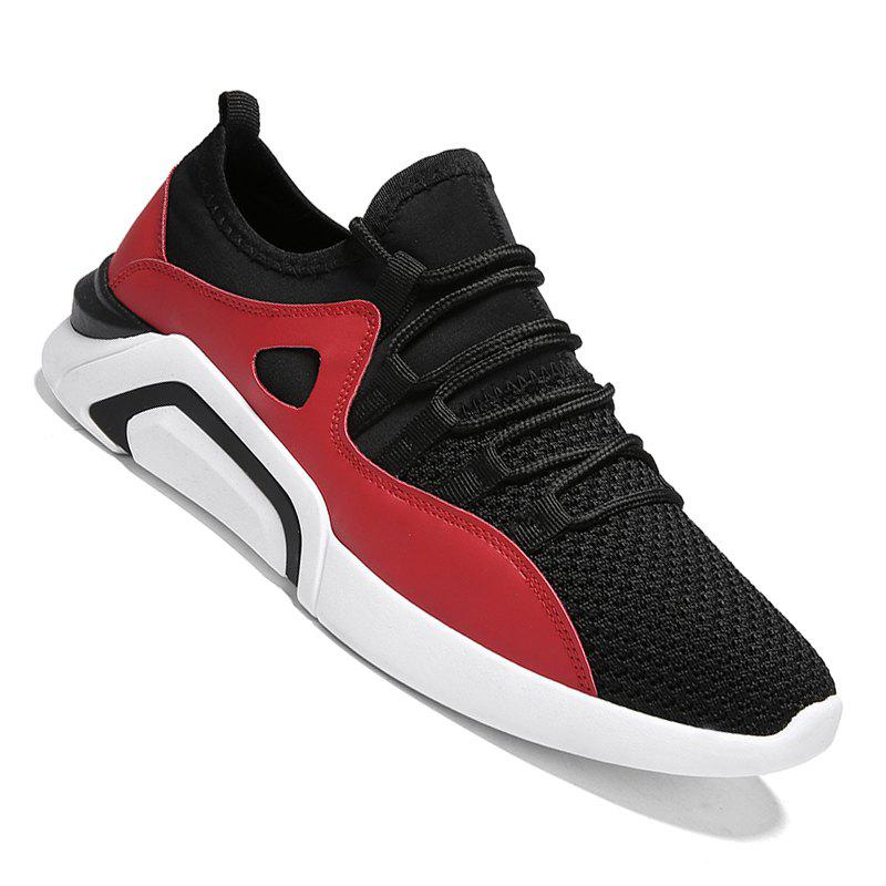 New Spring Breathable Wear-resisting Jogging Shoes For Men - BLACK/RED 40