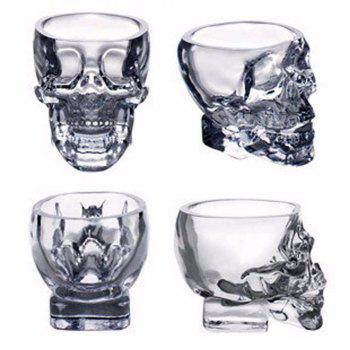Bone Glass Beer Stan Shooting Glass Head Whiskey Drinking Popular Design New Fashion Party - TRANSPARENT