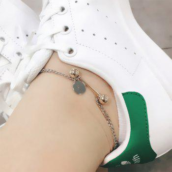 2018 Simple Wild Dumbbell Chain Anklets Fashion Bohemian Beach Accessories - SILVER