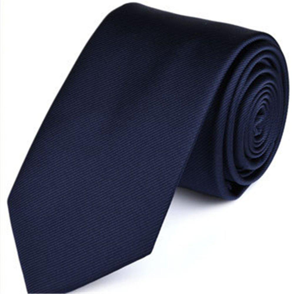 Nouvelle mode affaires cravate sergé de couleur pure hommes - Cadetblue LONG145CM*WIDE7CM