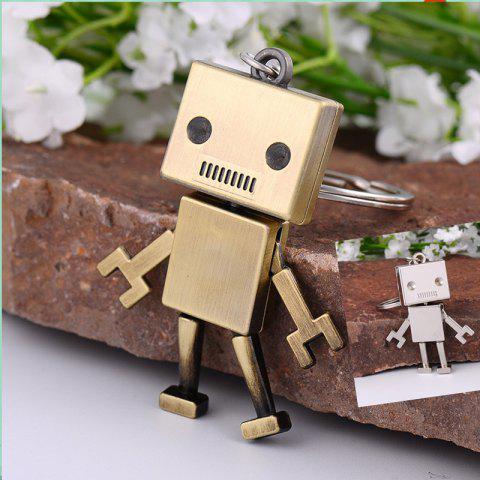 Creative Gifts Metal Robot Model Key Chain Fashion Key Rings ( Color: Antique bronze, silver ) - ANTIQUE BRONZE