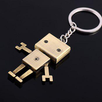 Creative Gifts Metal Robot Model Key Chain Fashion Key Rings(Color: Antique bronze, silver) - SILVER