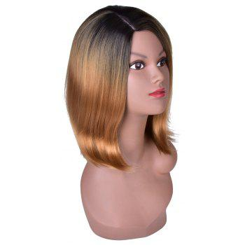 Hairyougo T5002A Medium Length Bobo Style Synthetic High Temperature Fiber Wig - LIGHT BROWN 16INCH
