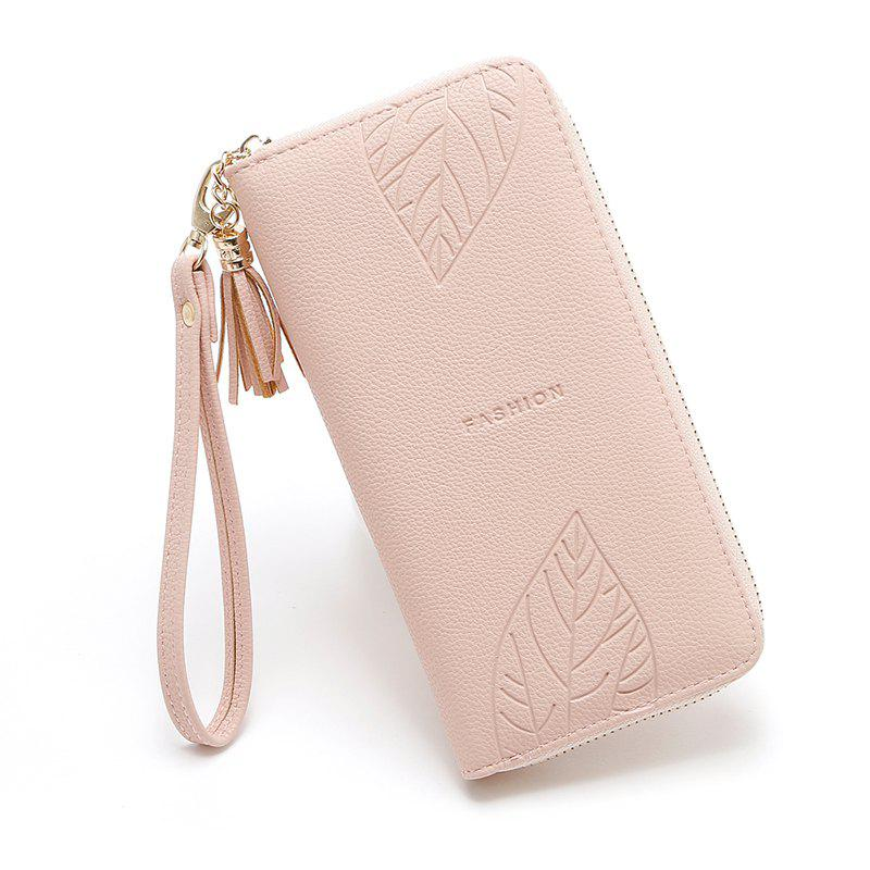 2018 Long Luxury Brand Designer Women Wallet Clutch High Quality Leather Tassel Women Purse with Zipper Card Holder