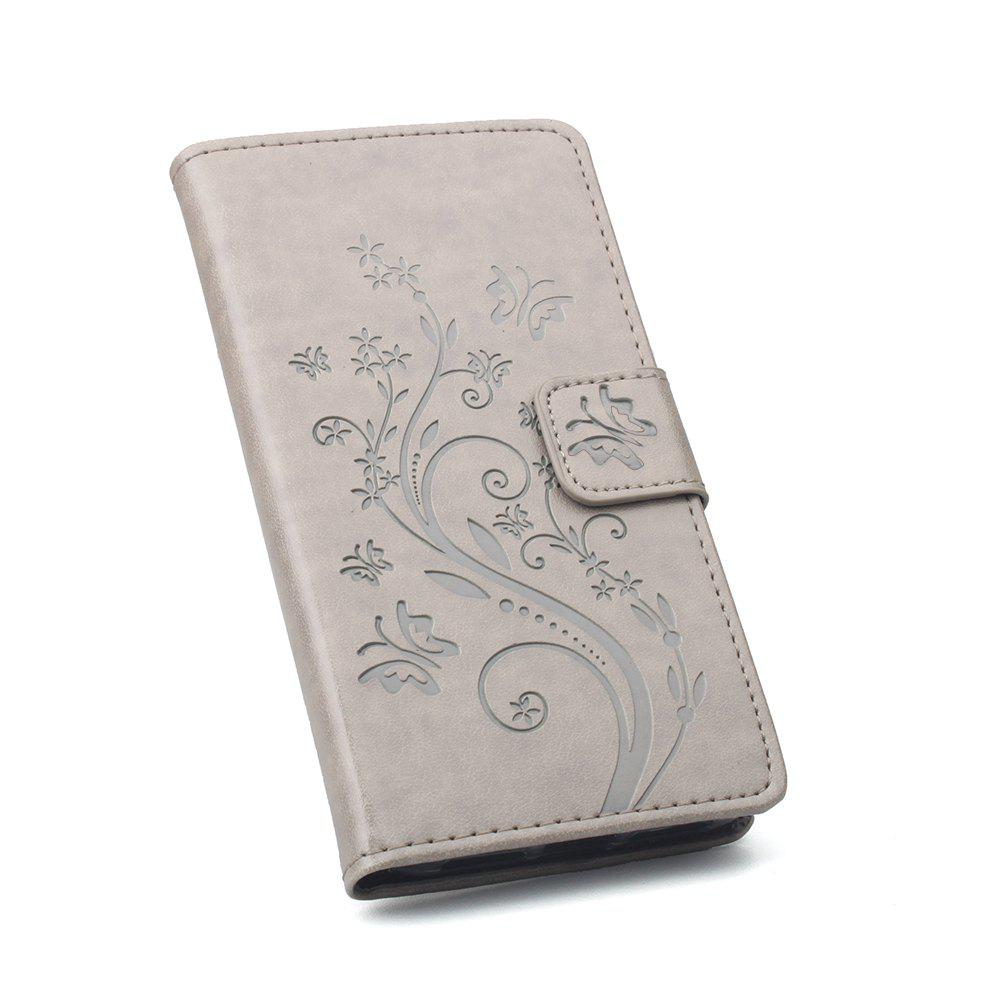 Luxury Wallet Case for Samsung Galaxy J2 Pro 2018 Leather Luxury Wallet FLip Card Slots Holder Stand Case Cover - GRAY