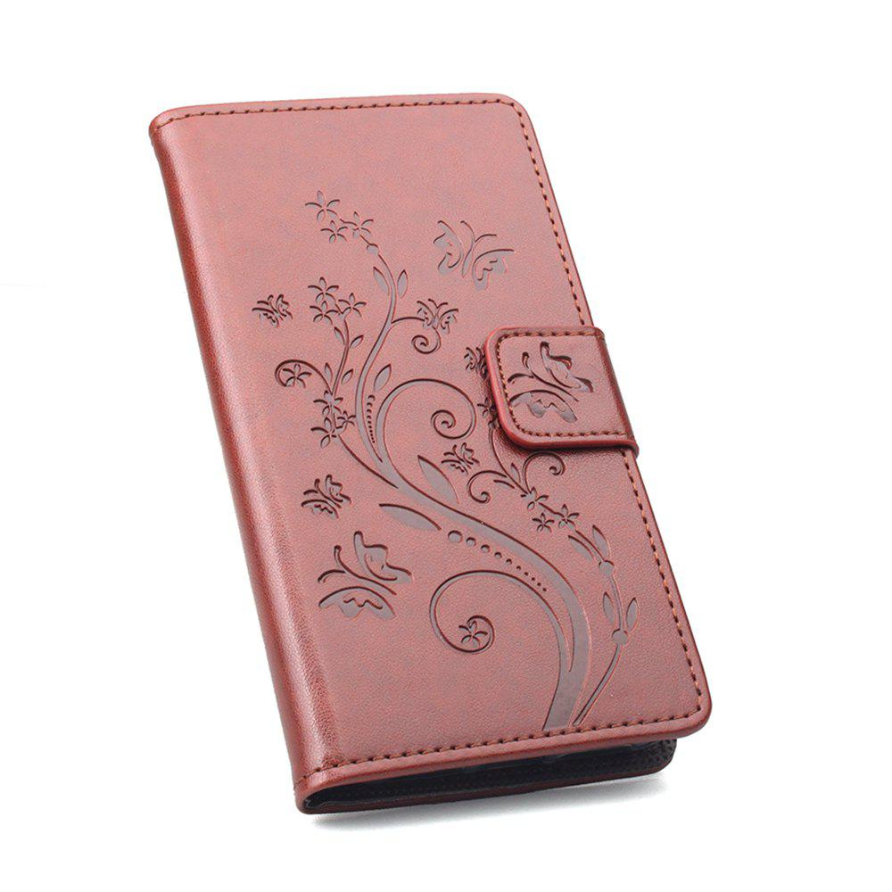 Luxury Wallet Case for Samsung Galaxy J2 Pro 2018 Leather Luxury Wallet FLip Card Slots Holder Stand Case Cover - BROWN