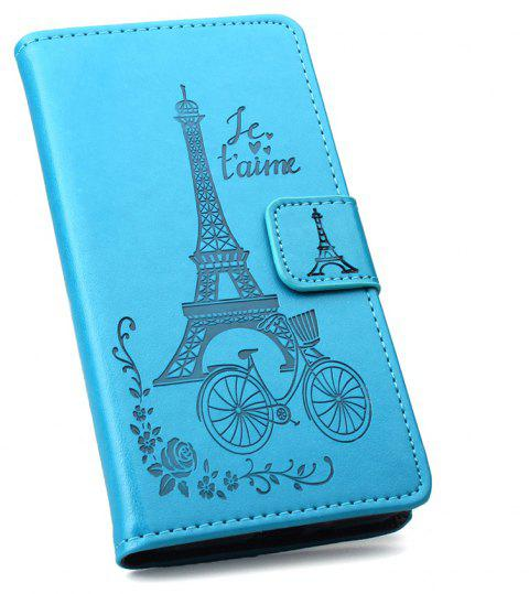 Wallet PU Leather Case for Sory Xperia E5 Phone Wallet Leather MobiLe Phone Holster Case - BLUE
