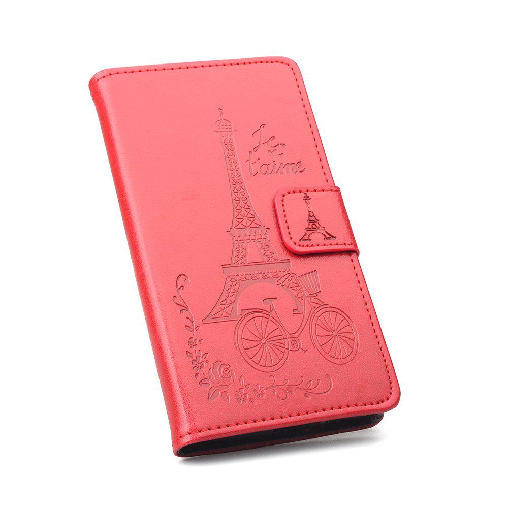 Wallet PU Leather Case for Sory Xperia E5 Phone Wallet Leather MobiLe Phone Holster Case - RED