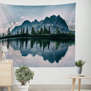 Lake Water Mountain Natural Landscape Tapestry Wall Hanging - COLORMIX W39.4INCH*L59.1INCH