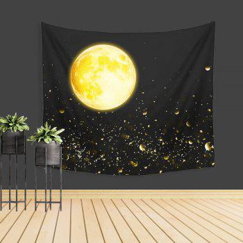 Moon Tapestry Wall Sky Adornment Sofa Beach Blanket Bedspread - COLORMIX W39.4INCH*L59.1INCH