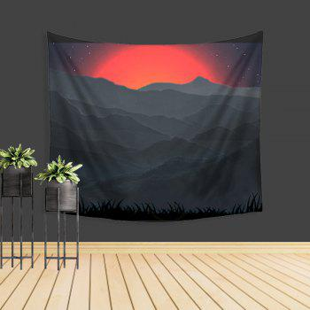 Sun Hill Tapestry Wall Adornment Beach Sofa Blanket - COLORMIX W39.4INCH*L59.1INCH