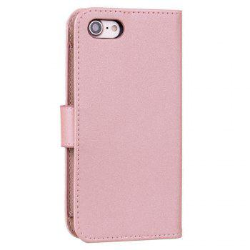 Cover Case For iPhone 8 Solid Color Pattern PU Leather Wallet Case - ROSE GOLD