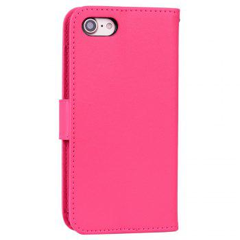 Cover Case For iPhone 8 Solid Color Pattern PU Leather Wallet Case - ROSE RED
