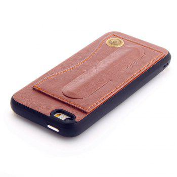 Leather Bracket Insert Card Cell Phone Shell For iPhone 5 / 5S / SE Cases Cover Extravagant Fashion Phone Case - ROSE GOLD