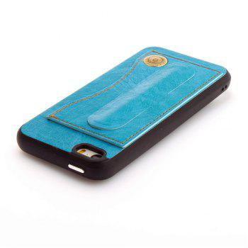 Leather Bracket Insert Card Cell Phone Shell For iPhone 5 / 5S / SE Cases Cover Extravagant Fashion Phone Case - WINDSOR BLUE