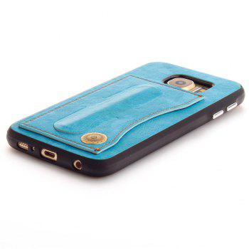 Leather Bracket Insert Card Cell Phone Shell For Samsung Galaxy S6 Cases Cover Extravagant Fashion Phone Case - WINDSOR BLUE