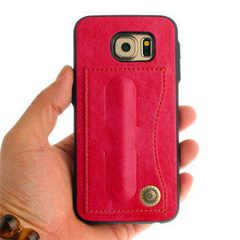 Leather Bracket Insert Card Cell Phone Shell For Samsung Galaxy S6 Cases Cover Extravagant Fashion Phone Case - SANGRIA
