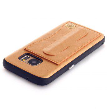 Leather Bracket Insert Card Cell Phone Shell For Samsung Galaxy S7 Cases Cover Extravagant Fashion Phone Case - GOLDEN