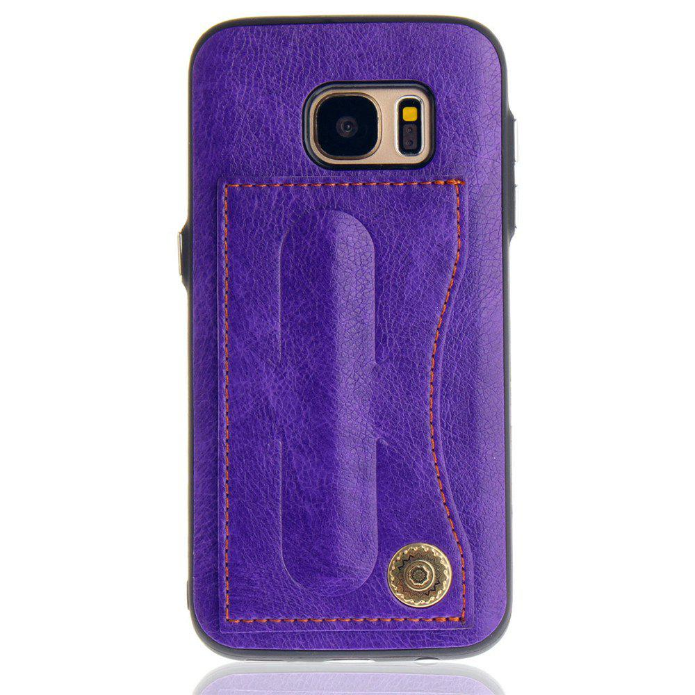 Leather Bracket Insert Card Cell Phone Shell For Samsung Galaxy S7 Cases Cover Extravagant Fashion Phone Case - DAHLIA