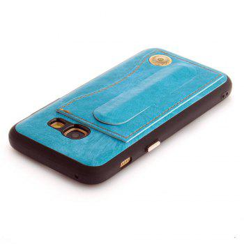 Leather Bracket Insert Card Cell Phone Shell For Samsung Galaxy A3 2017 A320 Case Extravagant Fashion Phone Case - WINDSOR BLUE