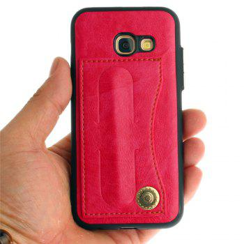 Leather Bracket Insert Card Cell Phone Shell For Samsung Galaxy A3 2017 A320 Case Extravagant Fashion Phone Case - SANGRIA