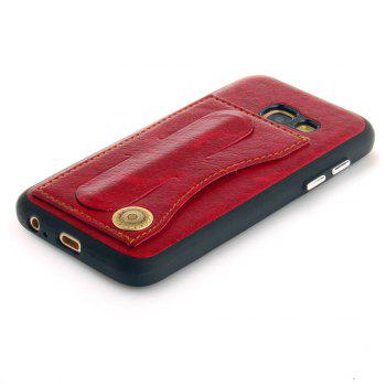 Leather Bracket Insert Card Cell Phone Shell For Samsung Galaxy A3 2017 A320 Case Extravagant Fashion Phone Case - RED