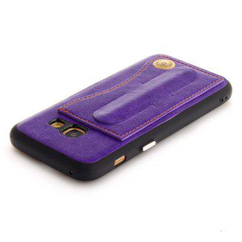 Leather Bracket Insert Card Cell Phone Shell For Samsung Galaxy A3 2017 A320 Case Extravagant Fashion Phone Case - DAHLIA