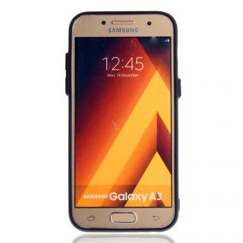 Leather Bracket Insert Card Cell Phone Shell For Samsung Galaxy A3 2017 A320 Case Extravagant Fashion Phone Case - GOLDEN