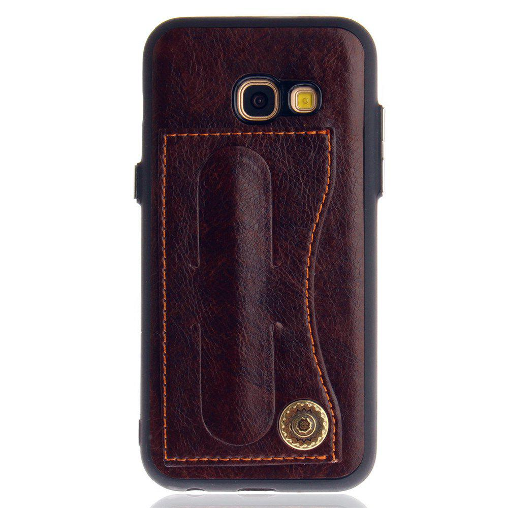 Leather Bracket Insert Card Cell Phone Shell For Samsung Galaxy A3 2017 A320 Case Extravagant Fashion Phone Case - MOCHA