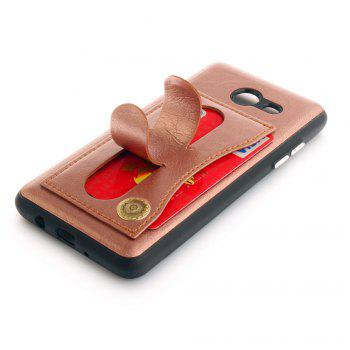 Leather Bracket Insert Card Cell Phone Shell for Samsung Galaxy J5 2017 J520 US Version Fashion Case - ROSE GOLD