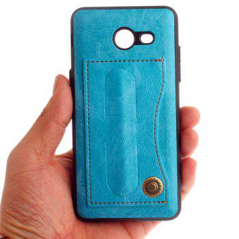 Leather Bracket Insert Card Cell Phone Shell for Samsung Galaxy J5 2017 J520 US Version Fashion Case - WINDSOR BLUE