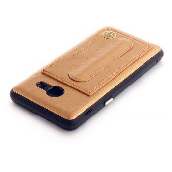 Leather Bracket Insert Card Cell Phone Shell for Samsung Galaxy J5 2017 J520 US Version Fashion Case - GOLDEN