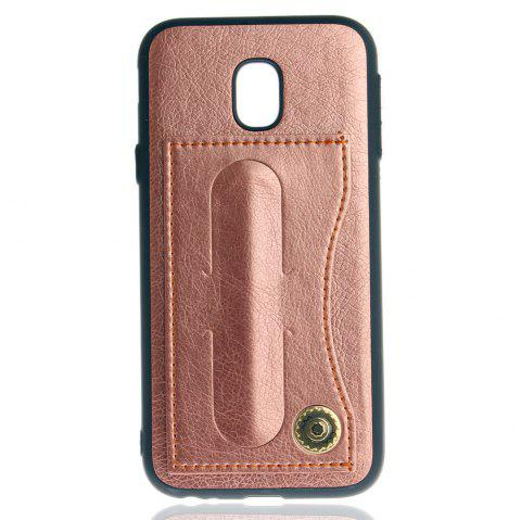 Leather Bracket Insert Card Cell Phone Shell For Samsung Galaxy J3 / 2017 J330 Case European Version Fashion Phone Case - ROSE GOLD
