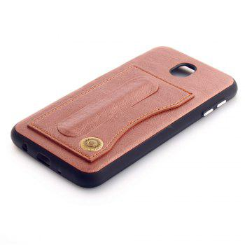 Leather Bracket Insert Card Cell Phone Shell For Samsung Galaxy J5 2017 J530 Case European Version Fashion Phone Case - ROSE GOLD
